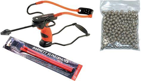 Barnett Cobra Slingshotcatapult Kit With Steel Ammo And