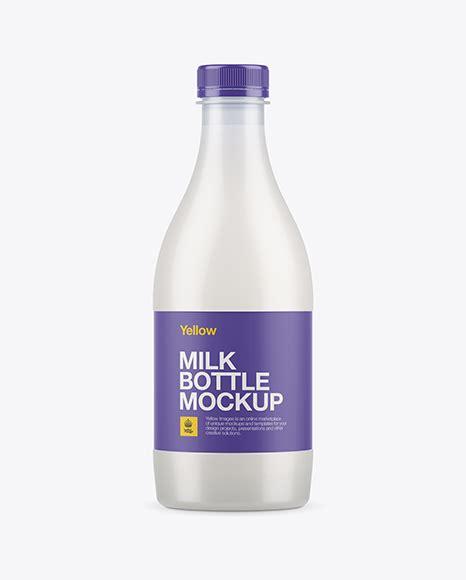 Plastic jerry can mockup in jug & scoop mockups on yellow images object mockups. Frosted Plastic Milk Bottle Mockup Bottle Mockups - Free ...