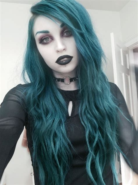 Teal Blue Lipstick Tumblr