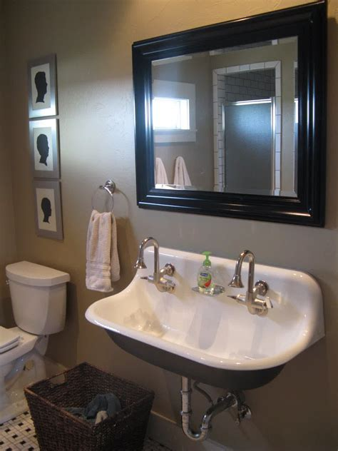 bathroom breathtaking faucet  trough sinks