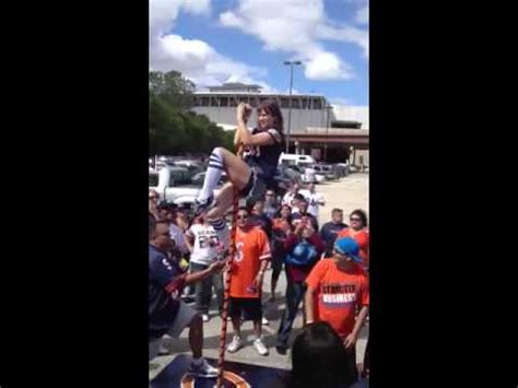 VIDEO: Chicago Bears Tailgater Falls Off Stripper Pole