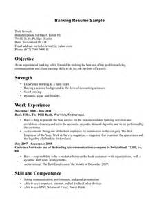 resume outline sle 28 images retail banking resume