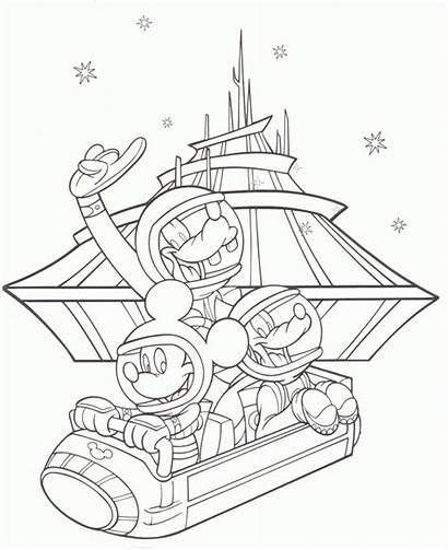 Coloring Disneyland Pages Popular
