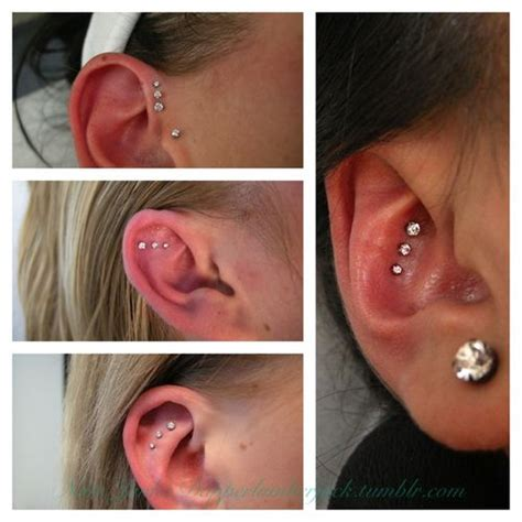 Piercing Placement Ideas Like The Top Left Picture And