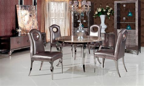 stainless steel marble dinning table  dining room set
