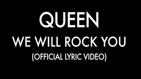 Queen  We Will Rock You (official Lyric Video) Chords Chordify