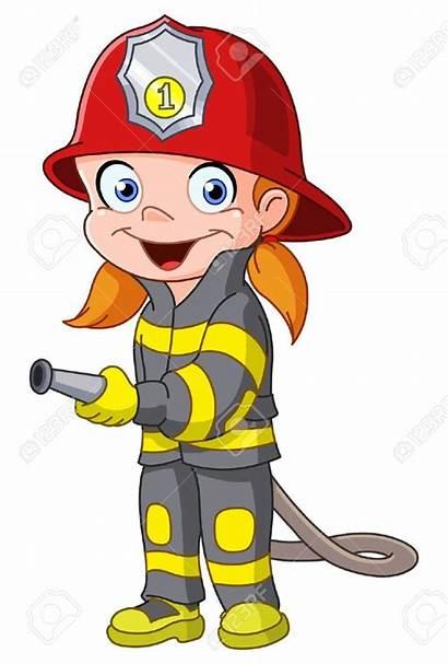 Firefighter Clip Fireman Clipart Costume Cartoon Firefighters
