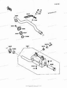 Kawasaki Atv 1991 Oem Parts Diagram For Muffler