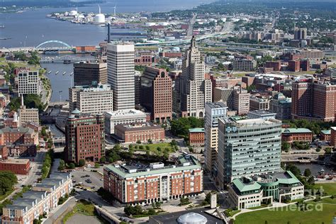 Aerial Of Downtown Providence Rhode Island Photograph by ...