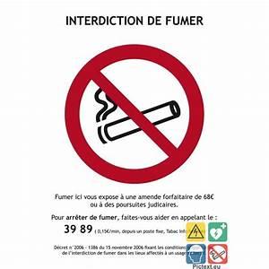 Panneau Interdiction De Fumer : panneau l gal interdiction de fumer conforme d cret 2006 1386 ~ Melissatoandfro.com Idées de Décoration