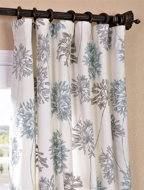blue gray curtains townhome