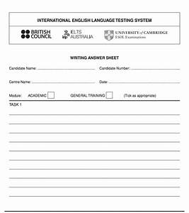 Ielts Writing Paper Ielts Writing Answer Sheet Video