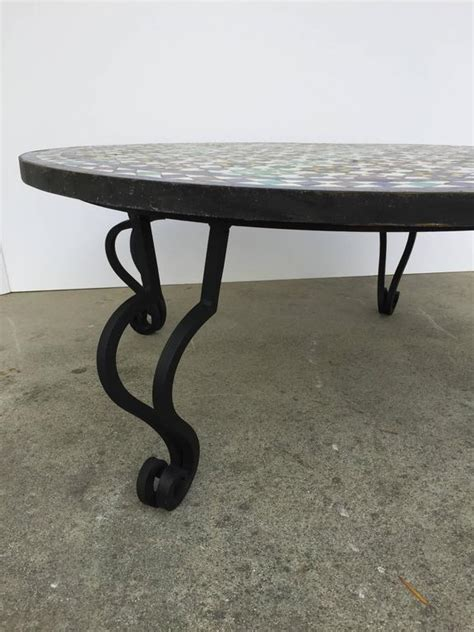 mosaic outdoor tile coffee table from morocco for