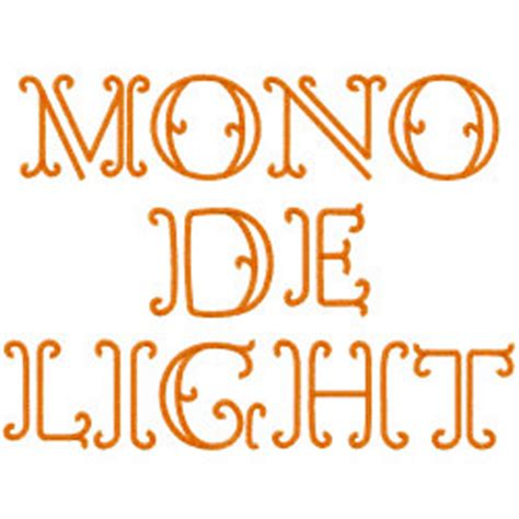 Monogram Delight By Embroidery Patterns Home Format Fonts