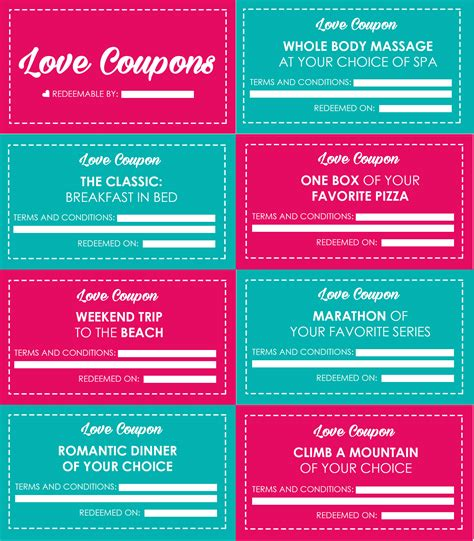 Love Coupons For Valentine's Day (diy Gift