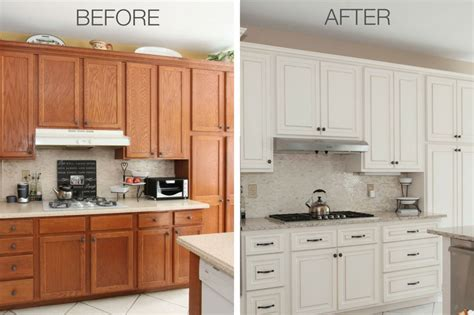 refinishing oak kitchen cabinets before and after 8 amazing refacing transformations before after photos