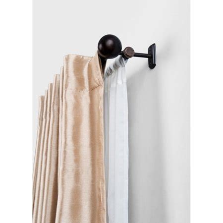 homes  gardens double curtain rod oil rubbed
