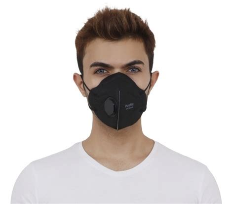 woven pureme anti pollution  mask black rs