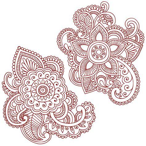 henna doodles vector designs on behance