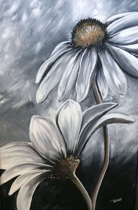 Artist oil paints and acrylics because these stay flexible too. 30 Creative Black And White Painting Ideas On Canvas