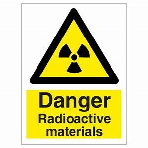 Danger radioactive materials
