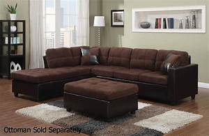 Mallory brown leather sectional sofa steal a sofa for Brown sectional sofa
