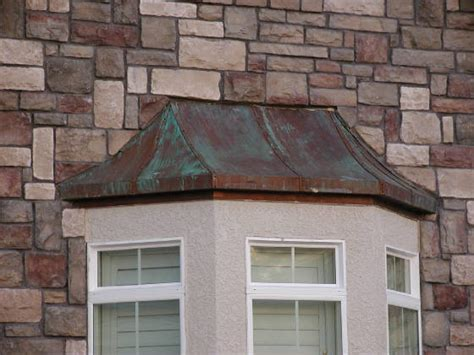custom copper bay window cover exterior los angeles   metal shoppe custom metal