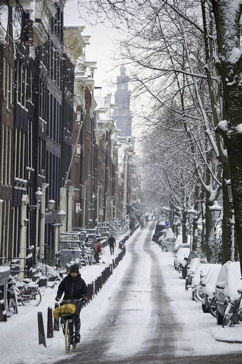 Snow In Amsterdam Winter Pinterest