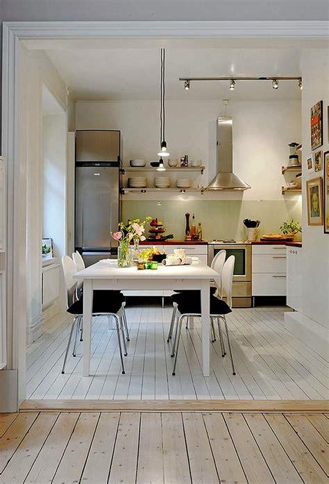petites cuisines ouvertes cuisine americaine table