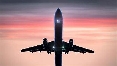 Plane Flight Flying Sky Clouds 4k Takeoff