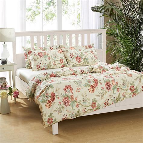 100 egyptian cotton red floral girls bedding sets 500