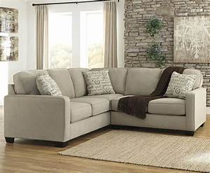 2 piece sectional with right loveseat by signature design for Sectional sofas wolf furniture