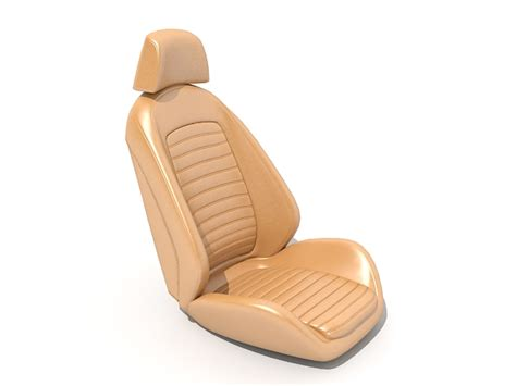 Brown Leather Car Seat 3d Model 3ds Max Files Free