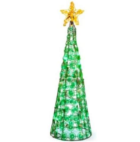 clearance outdoor lighted cone christmas tree holiday yard