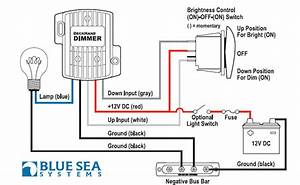 Blue Sea Systems 7508 Deck Hand Dimmer And Switch 25 Amp