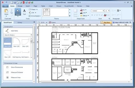 Floor Plan Template Powerpoint by Create Diagrams For Powerpoint Using Smartdraw