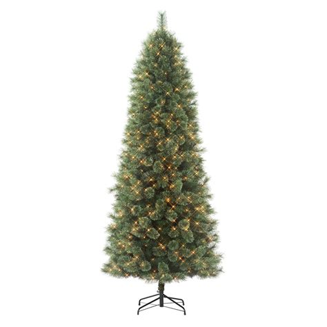 cashmere pre lit christmas tree donner blitzen incorporated 7 5 westchester slim pine pre lit tree with