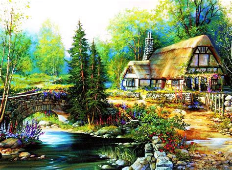 country cottage wallpaper hd cottage background wallpaper wiki