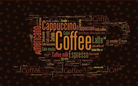 Coffee Designs Wallpapers by Coffee Letters Wallpaper Custom 3d Wall Mural Fashion