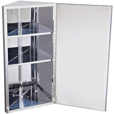 wall mounted medicine cabinet with mirror homcom 24 quot stainless steel 3 level wall mounted mirrored