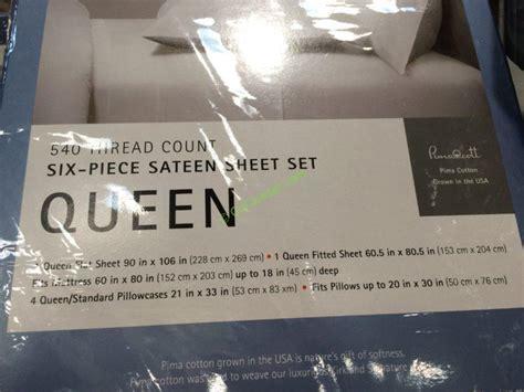 kirkland signature sheet set queen  king costcochaser