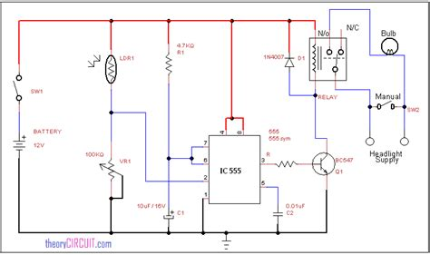 automatic headlight circuit