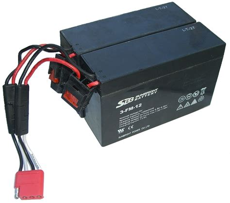le mit batterie akku set f allrad jeep 2x 6v 12ah batterie inkl