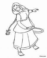 Coloring Pages Dance Dancer Dancing Folk Word Styles Pitara Template Printable Getcolorings sketch template
