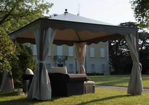 Pavillon Metall Wetterfest : pavillon ottomezzo 4x4 m anthrazit unosider ~ Watch28wear.com Haus und Dekorationen