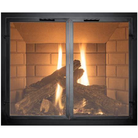 fireplace with glass doors normandy fireplace door woodlanddirect fireplace
