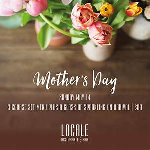 Mother's Day - Lunch - Locale Noosa Restaurant & Bar Noosa