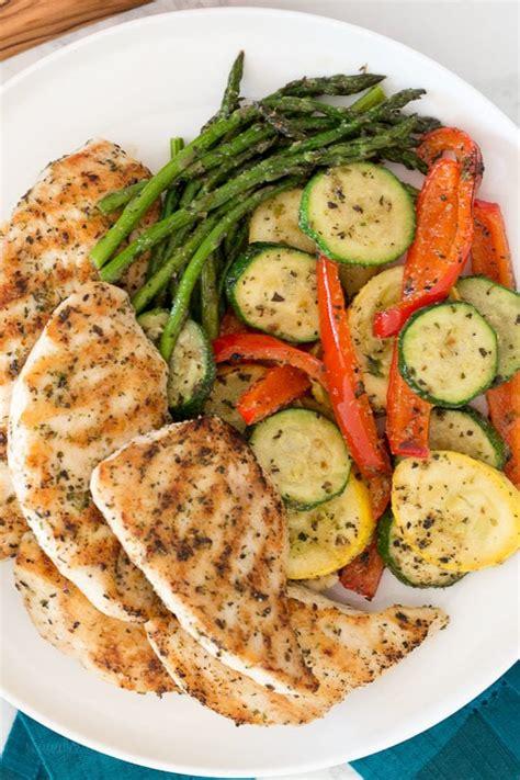 grilled garlic  herb chicken  veggies skinnytaste