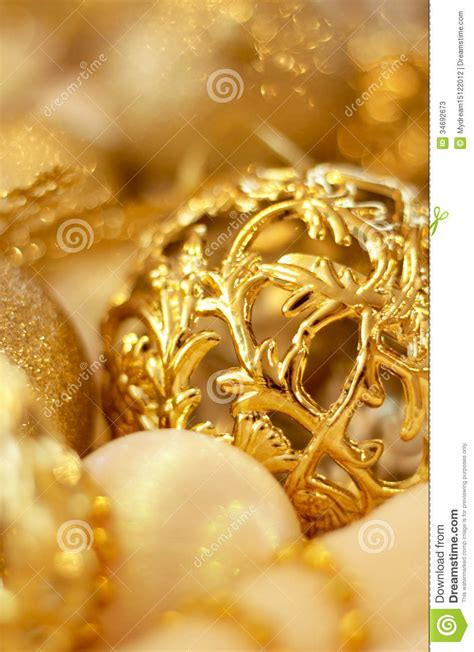 gold and white christmas christmas gold decoration stock image image of ball 34692673
