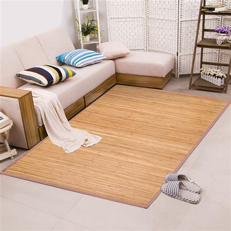 area rugs for kitchen floor quality brown slat bamboo floor carpet area rug mat 100 7505